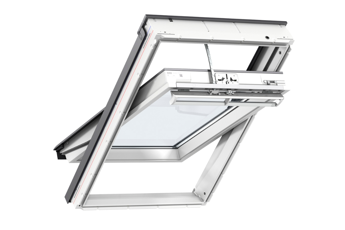 VELUX INTEGRA® Electric Centre Pivot Roof Window 780mm x 1400mm White Painted GGL MK08 207021U
