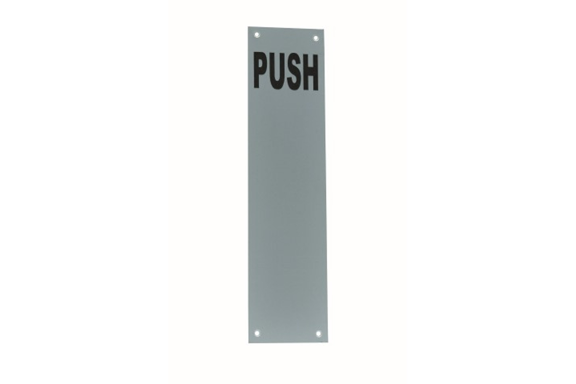 4Trade Finger Plate Push Satin Anodised Aluminium 300 x 75mm