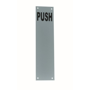 4Trade Finger Plate Push Satin Anodised Aluminium 300 x 75mm