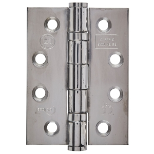 Eclipse Fire Door Hinge Grade 7 Polished Stainless Steel 76mm