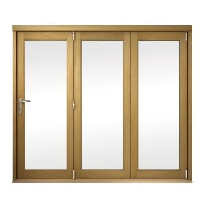 Slimline External Unfinished Oak Veneer Bifold Door Set