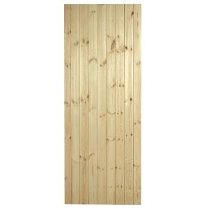 External Softwood Pine Ledged & Braced Door