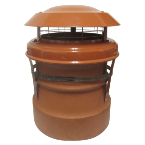M.A.D Junior Chimney Cowl Strap Fix Terracotta 160mm x 310mm