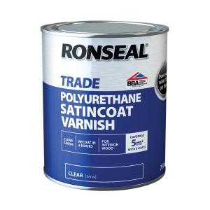 """Ronseal PU Varnish, Satin - 750ml"""""""
