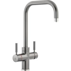 Abode Protex 3 in 1 Instant Hot Water Monobloc Kitchen Mixer Tap Graphite PT1125