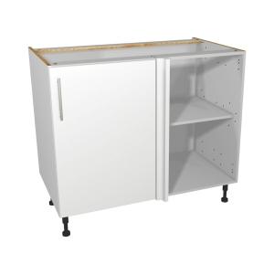 Self Assembly Kitchens Orlando White 1000 Highline Corner Base + 500 Fascia