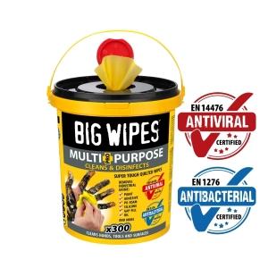 Big Wipes Antiviral Multi-Purpose Pro+ Bucket 300 Wipes