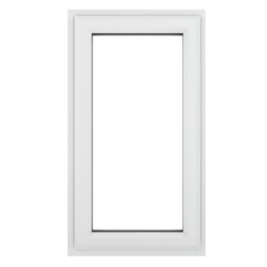 Crystal White Upvc Casement Clear Window 1P Top Opening 440 mm x 610 mm