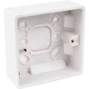 Bg Low Profile Moulded Surface Box 1 Gang 32mm