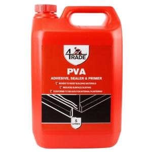 "4Trade PVA Building Adhesive, Sealer and Primer 5L"""