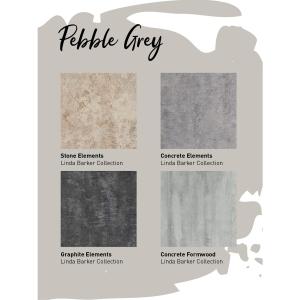 Multipanel Neutrals Bathroom Wall Panel Unlipped Pebble Grey 7927