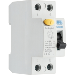 Bg Incomer Devices 80A 30mA Type A RCD