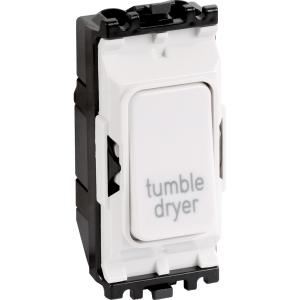 MK Grid Plus 20A 1 Way Dp Engraved Modules Tumble Dryer