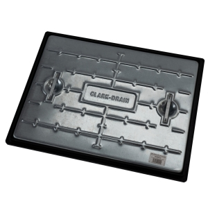 Clark-Drain Manhole Cover and Frame Galvanised Steel 450mm x 600mm 10 Tonne