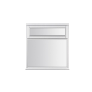 JELD-WEN Stormsure White Timber Window 2 Panel Top Opening 1045 x 910mm
