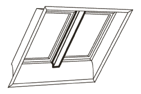 Velux White Veneer Support Trimmer 200cm EKY W20 2000