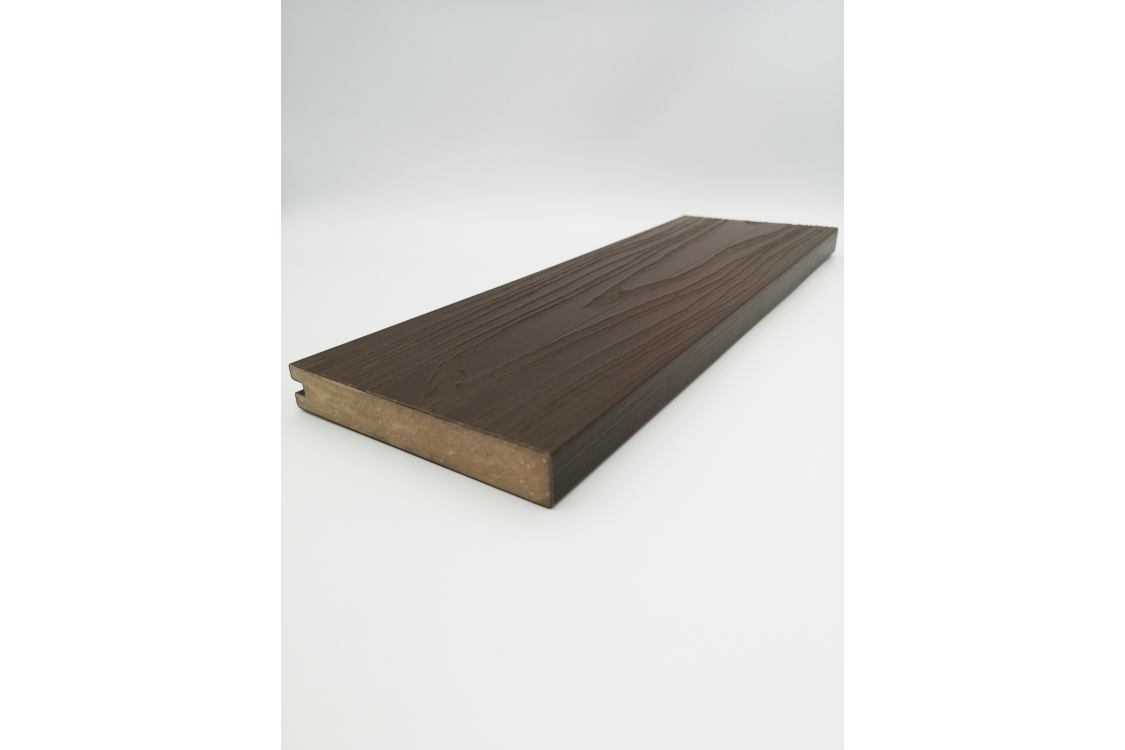 Urban Solid Wood Composite Decking 22mm x 138mm x 3600mm Square Edge Board Arran Dark Brown