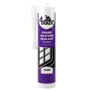 4Trade Frame Silicone Sealant Clear 310ml