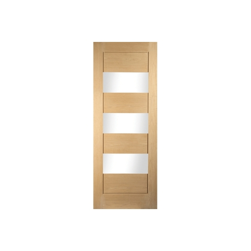 Jeld-wen Oregon Cottage Horizontal 3 Light Clear Glazed White Oak Door 610mm