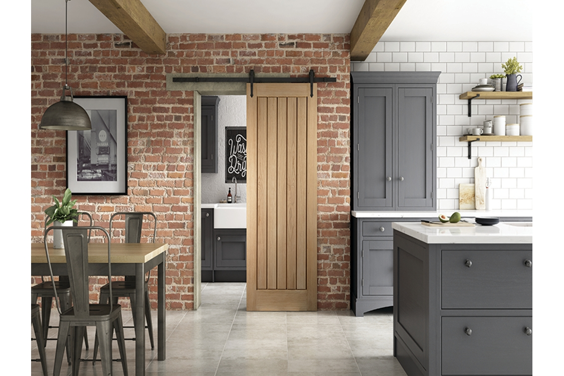 Cottage Sliding Urban Barn Door 862mm