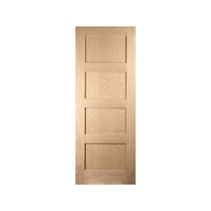 Jeld-wen Oregon Shaker 4 Panel Interior White Oak Door 1981x762mm