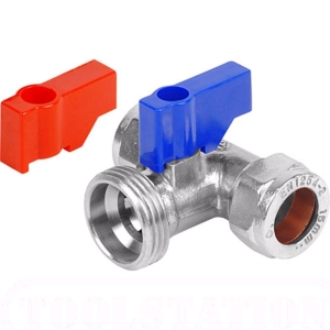 Washing Machine Tap Chrome Plated Tee 15mm x 15mm x 3/4in