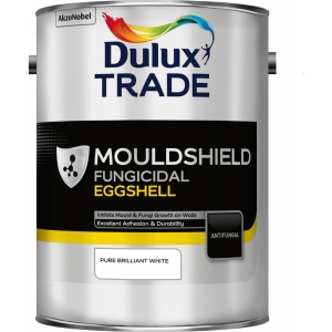 Dulux Trade Quick Drying Eggshell Mouldshield Quick Drying Paint Pure Brilliant White 5L