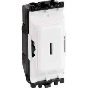 MK Grid Plus 20A Secret Key Switch Module 2 Way Sp
