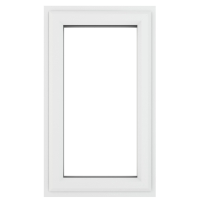 Crystal White Upvc Casement Clear Window 1P Right Hand Opening 610 mm x 820 mm