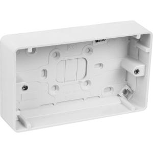 MK Moulded Box 2 Gang 30mm
