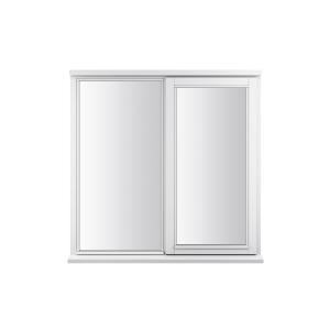 JELD-WEN Stormsure White Timber Window 2 Panel Right Opening 910 x 895mm