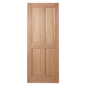 Custom Size 4 Panel Internal Oak Veneer Hardwood Core Maximum Size 2050 x 750 x 35mm