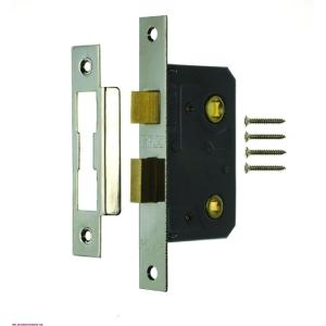 4Trade Mortice Bathroom Lock 64mm Chrome