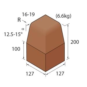 Marshalls Keykerb Half Battered Angle External Brindle Kerb Line