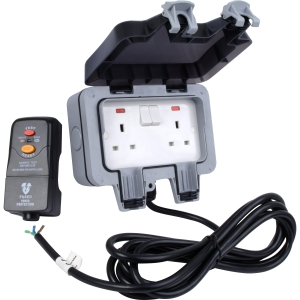 Bg IP66 Outdoor Power Kit 2 Gang Switched