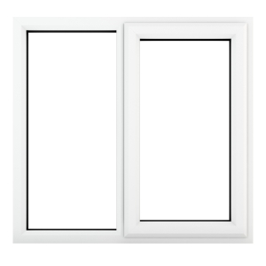 Crystal White Upvc Casement Clear Window 2P Right Hand Opening 1190 mm x 1040 mm