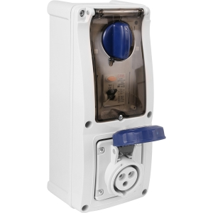 Famatel Uk Ltd Industrial RCD Socket IP67 240V 16A 30mA 2P+E Switched