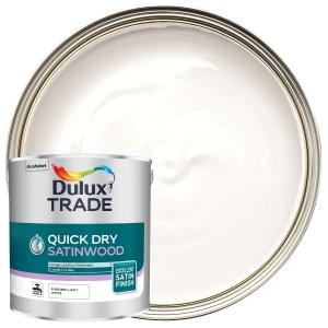 Dulux Trade Quick Dry Satinwood Pure Brilliant White 2.5L
