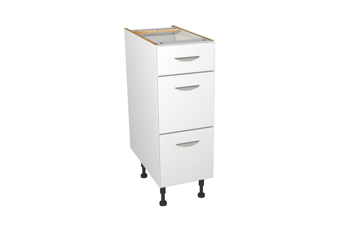 Self Assembly Kitchens Dakota 300 3 Drawer Base