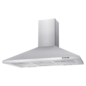 Unbranded 90cm Chimney Hood with Push Button Controls Stainless Steel NCE90NX