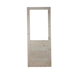 External Softwood Redwood 2XG Unglazed Door