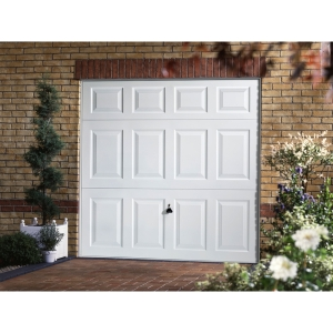 Garador Beaumont Type C Steel Up & Over Garage Door White 1981mm x 2134mm