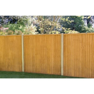 6ft x 5ft 1.83m x 1.52m Closeboard Fence Panel - Pack of 3