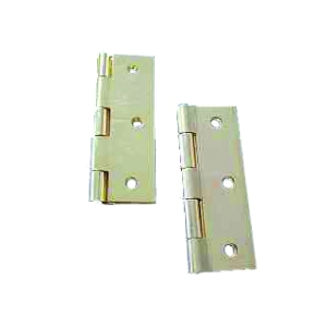 4Trade Butt Hinge Chrome Plated 75mm Fixed Pin 1838 Pair