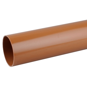 OsmaDrain Plain Ended Pipe 160mm x 3m 6D073