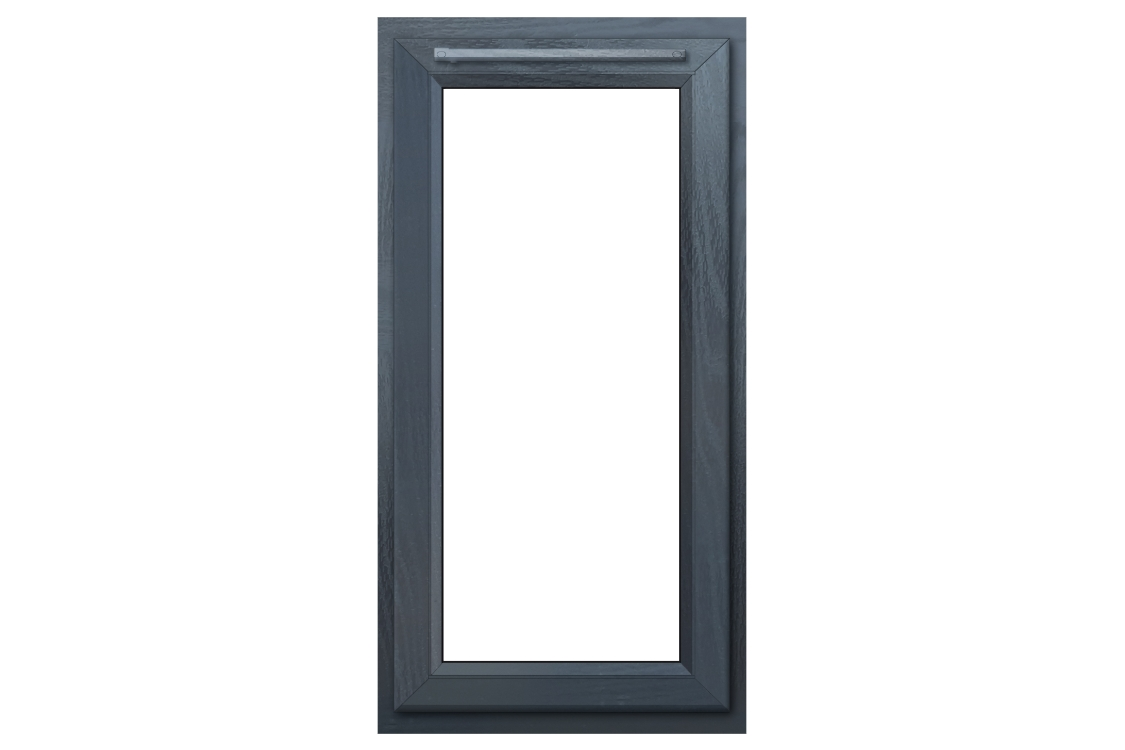 Euramax Grey Upvc Casement Window 1P Right Side Hung 610 x 1190mm