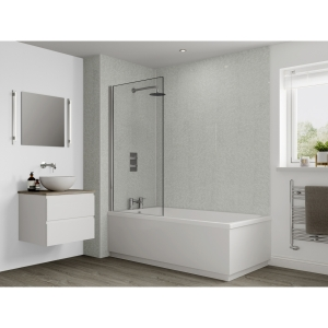 Multipanel Classic Bathroom Wall Panel Unlipped Frost White M049