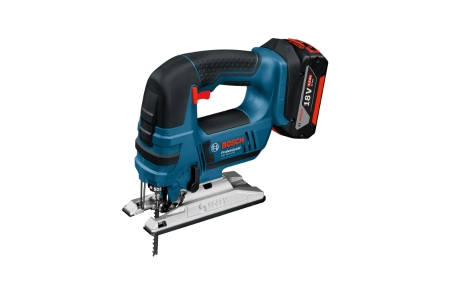 Bosch Gst 18V-LIB 18V Jigsaw with Mitre Cut Capabilities and with 2 x 5.0 Ah Batteries and Charger in A L-BOXX