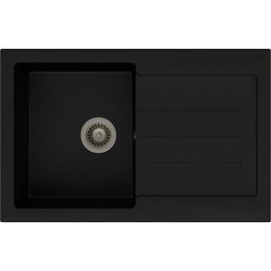 Abode Xcite 1 Bowl Inset Black Metallic Composite Kitchen Sink