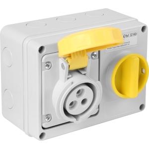 Famatel Uk Ltd Industrial Socket IP67 110V 16A 2P+E Switched